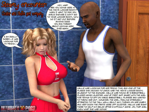 Steamy Encounter -Clester & Hallie get company
